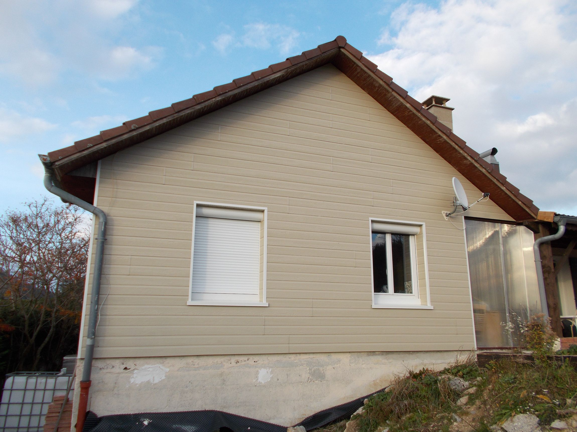 Bardage for Isolation maison exterieur