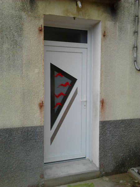 Porte d'entrée PVC en rénovation