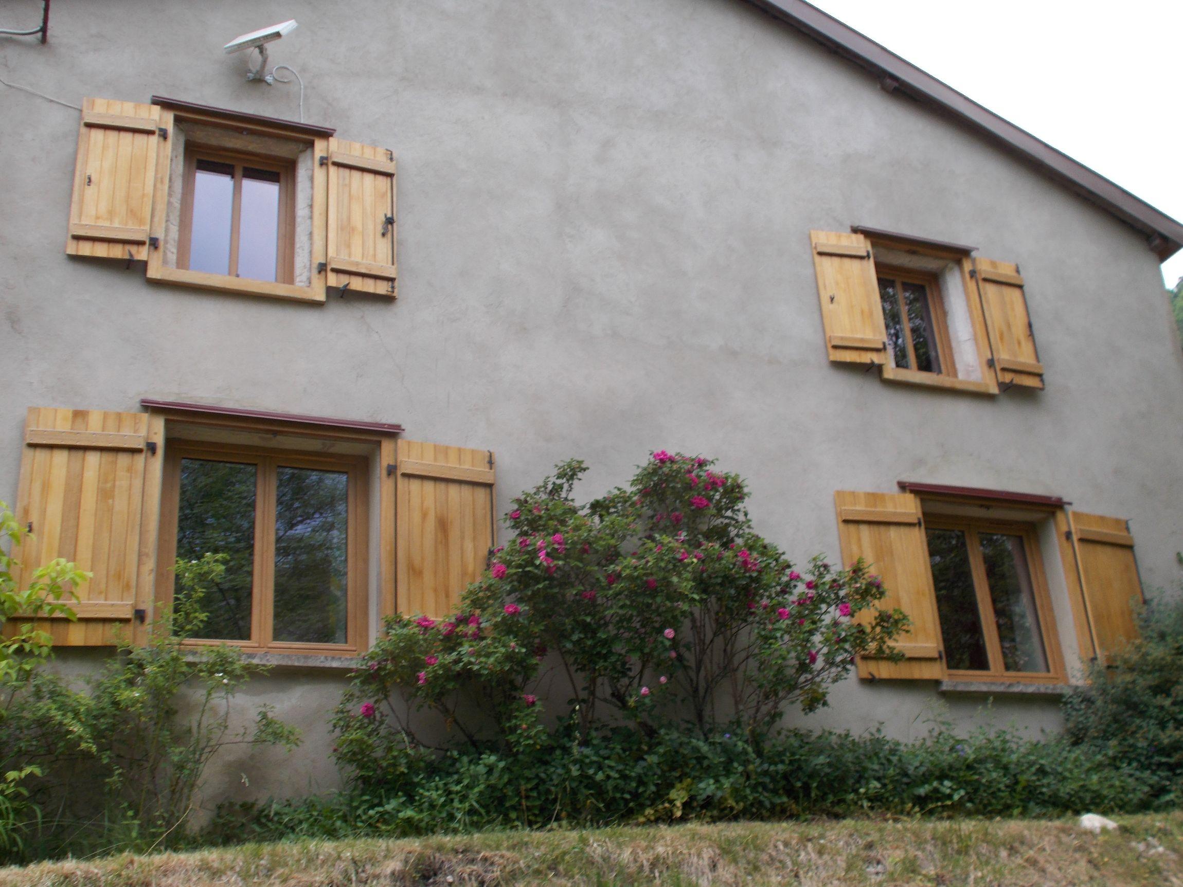 Ensemble fenêtres PVC coloris Chêne Irlandais